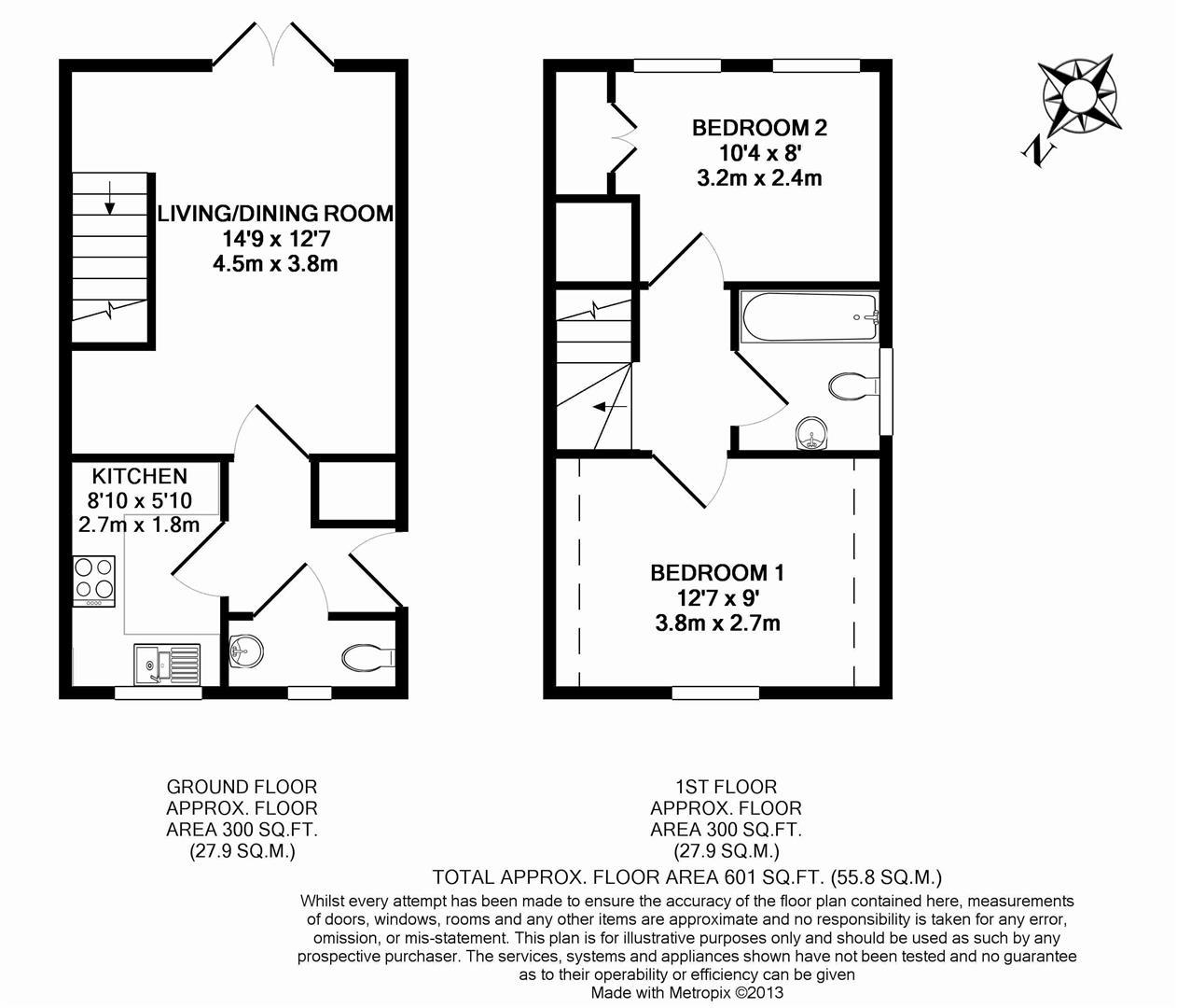 Floorplan for Chichester Terrace, Horsham
